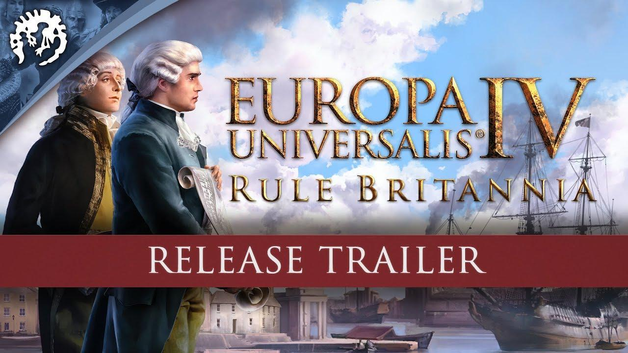 Europa Universalis IV: Rule Britannia now available, doesn't