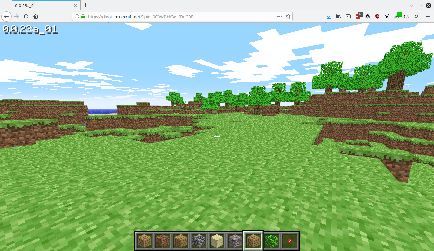 You can now play Minecraft Classic in your browser as Minecraft