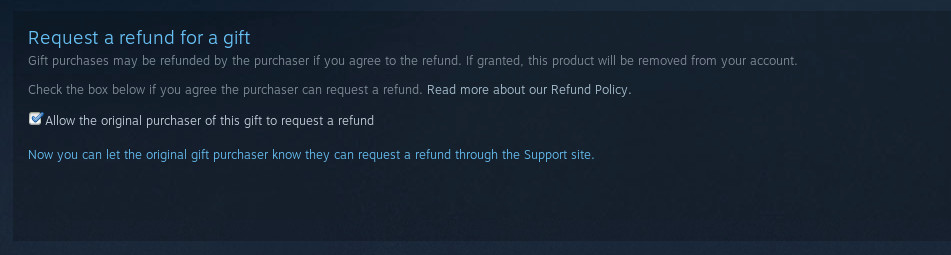 how to ask refund on steam