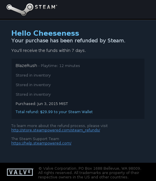 can you refund old games on steam