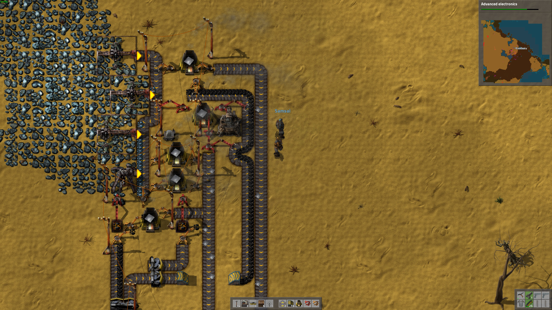 Some Thoughts On Factorio After A Few Hours With It Blown Away By Make But Does Need An Advanced Electronic Circuit Crafted Like So The Idea Is Simple Youre Alien Planet You To Build Lots Of Stuff Survive And Aliens Want Eat Sounds Weird Combination