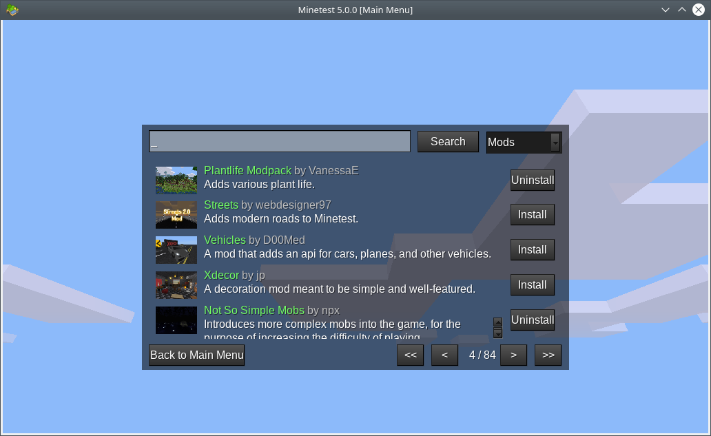 Minetest, the free and open source voxel game engine has a
