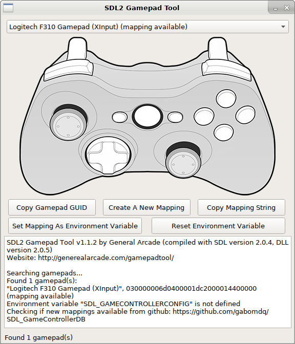 SDL2 Gamepad Tool, an alternative to Steam Big Picture