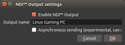 OBS Studio NDI Plugin for Linux, send video from one Linux PC to