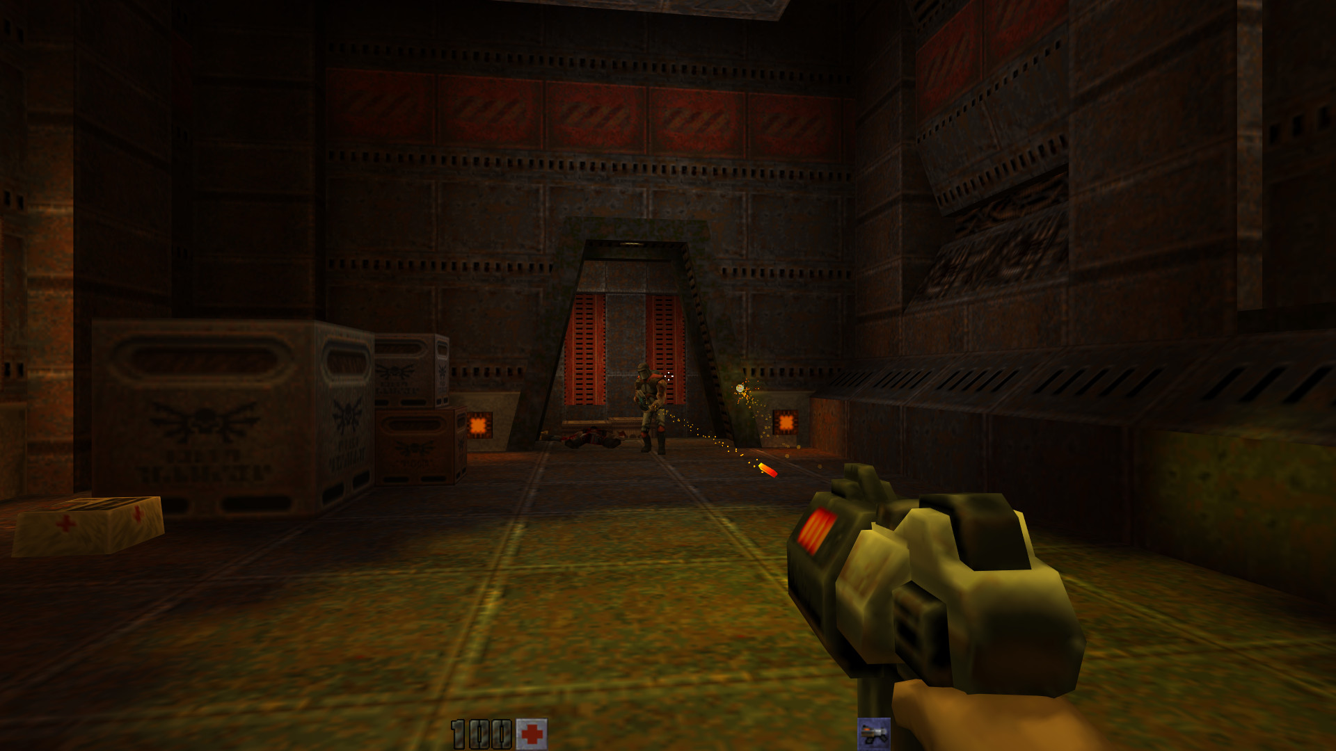 vkQuake2, the project adding Vulkan support to Quake 2 now
