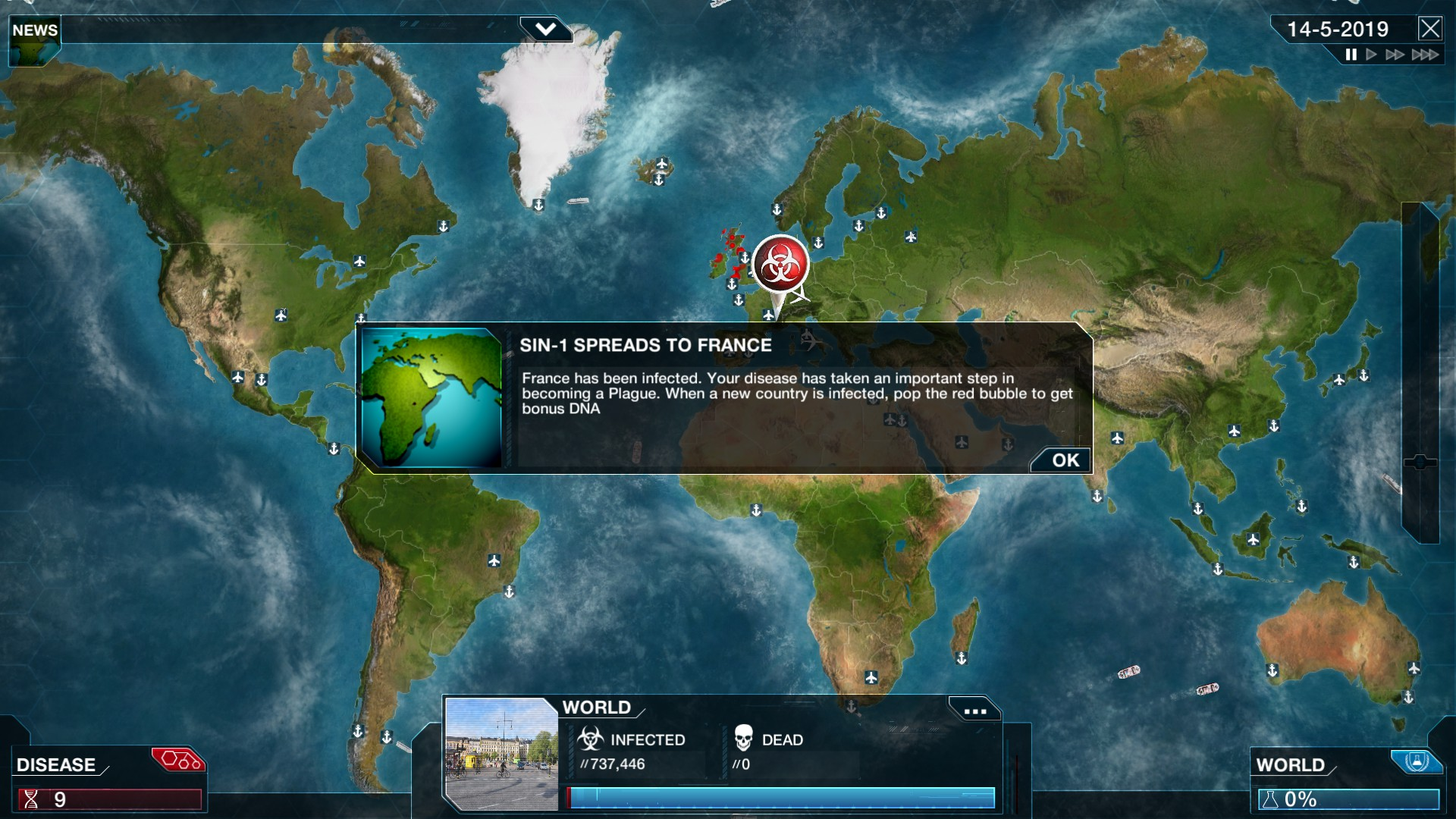 Plague Inc: Evolved has a 'Royal Update' with two new scenarios