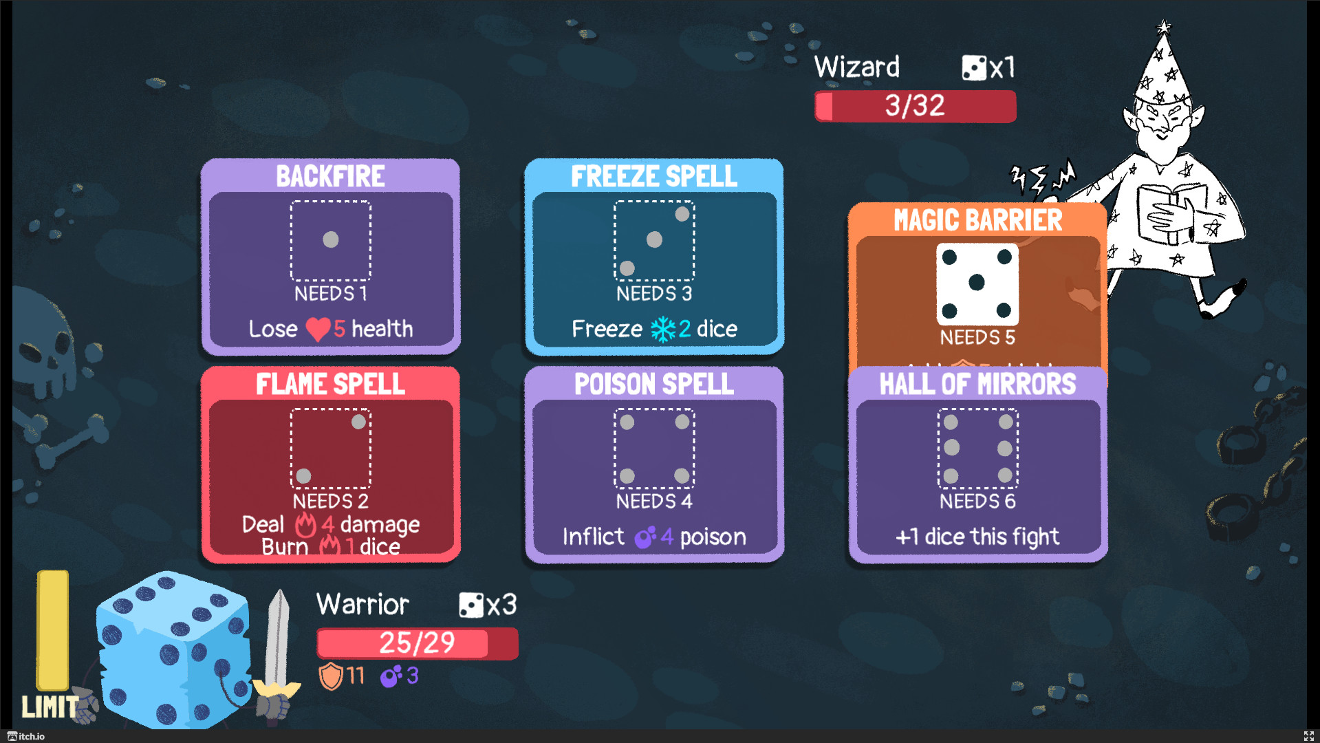 Dicey Dungeons, a new roguelike from Terry Cavanagh is a