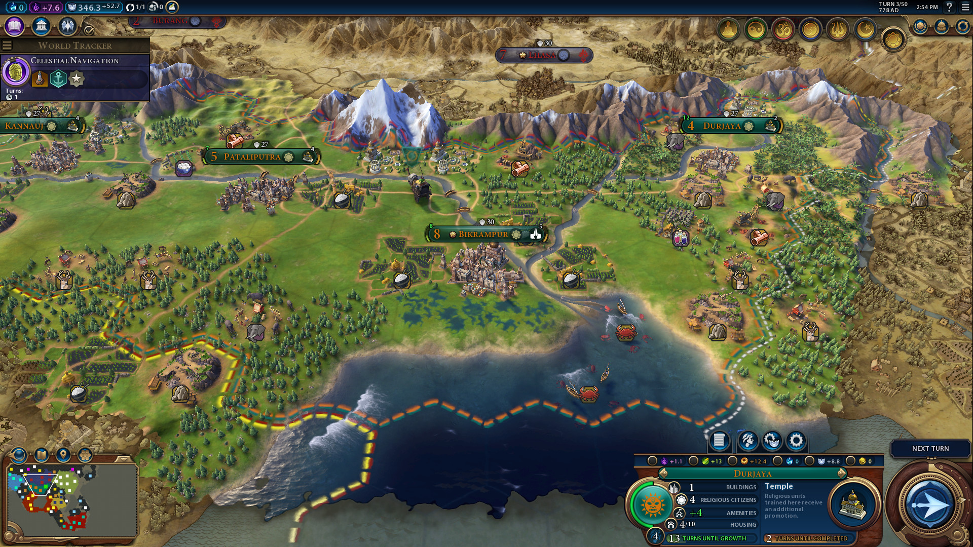 The Linux version of Civilization VI has been updated with cross