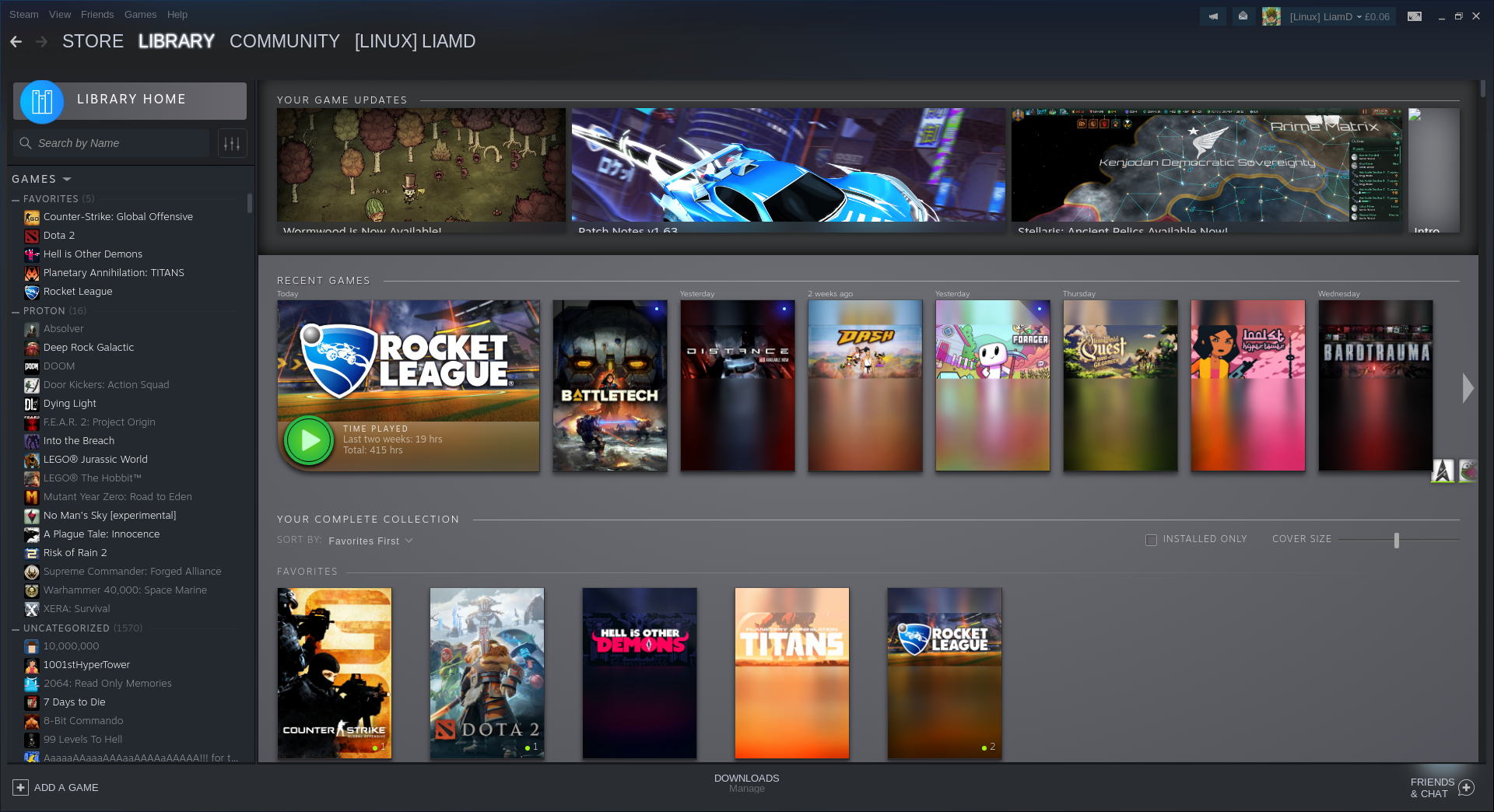 More shots of Steam's new Library design thanks to a leak (updated
