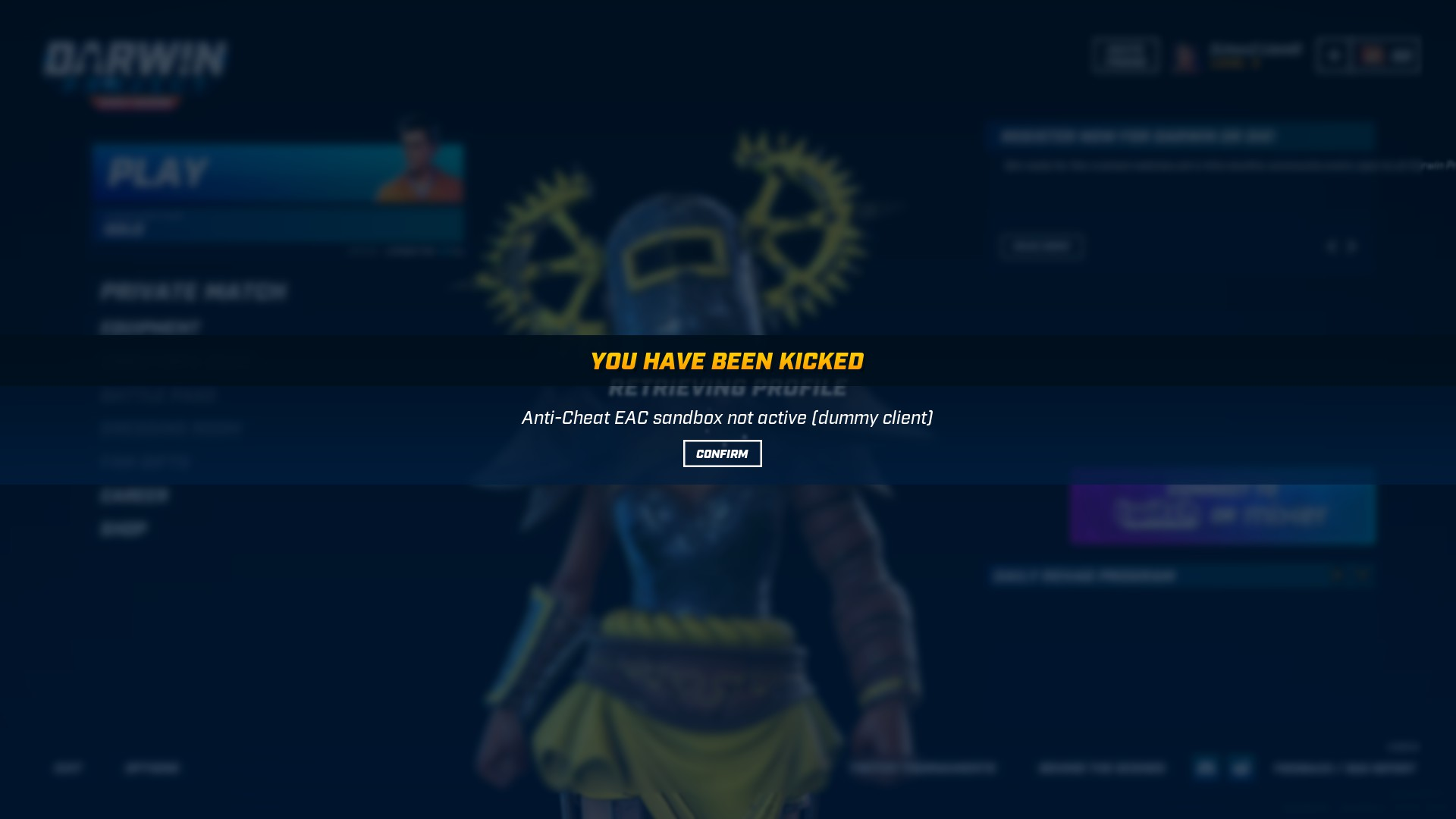 Darwin Project no longer works in Steam Play, due to Easy