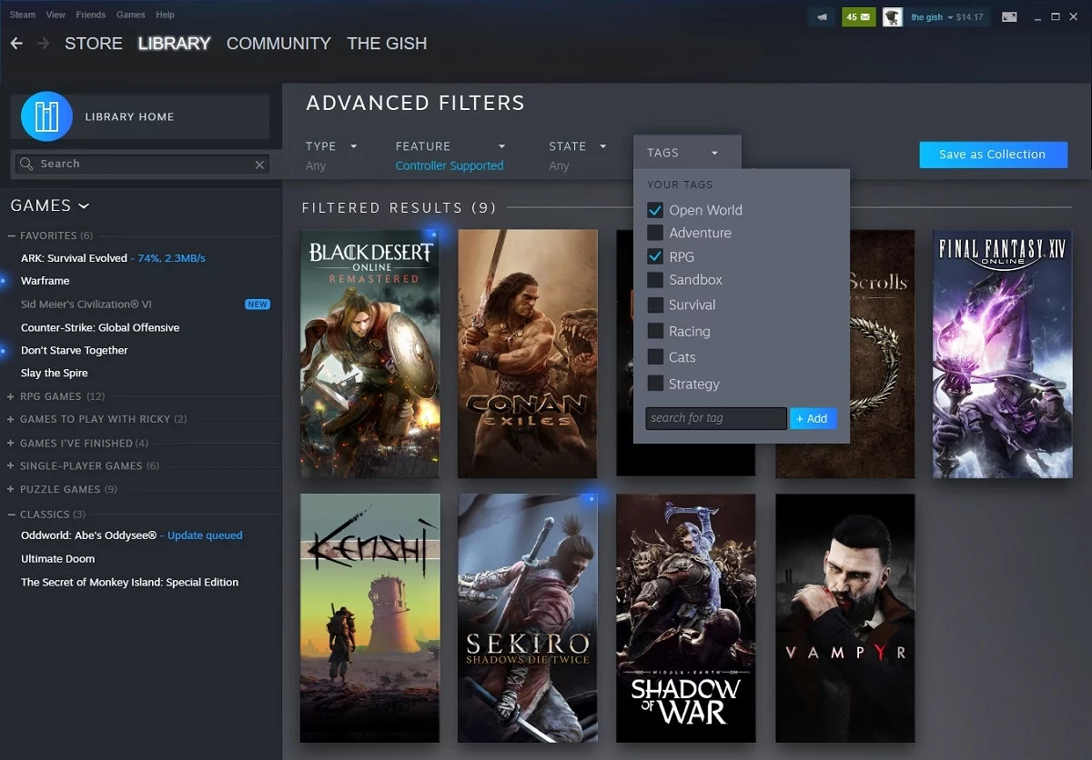 Valve show off their new Steam Library design and a new