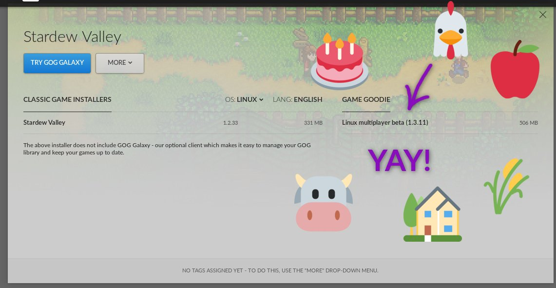 Good news for Stardew Valley fans, as GOG now have the