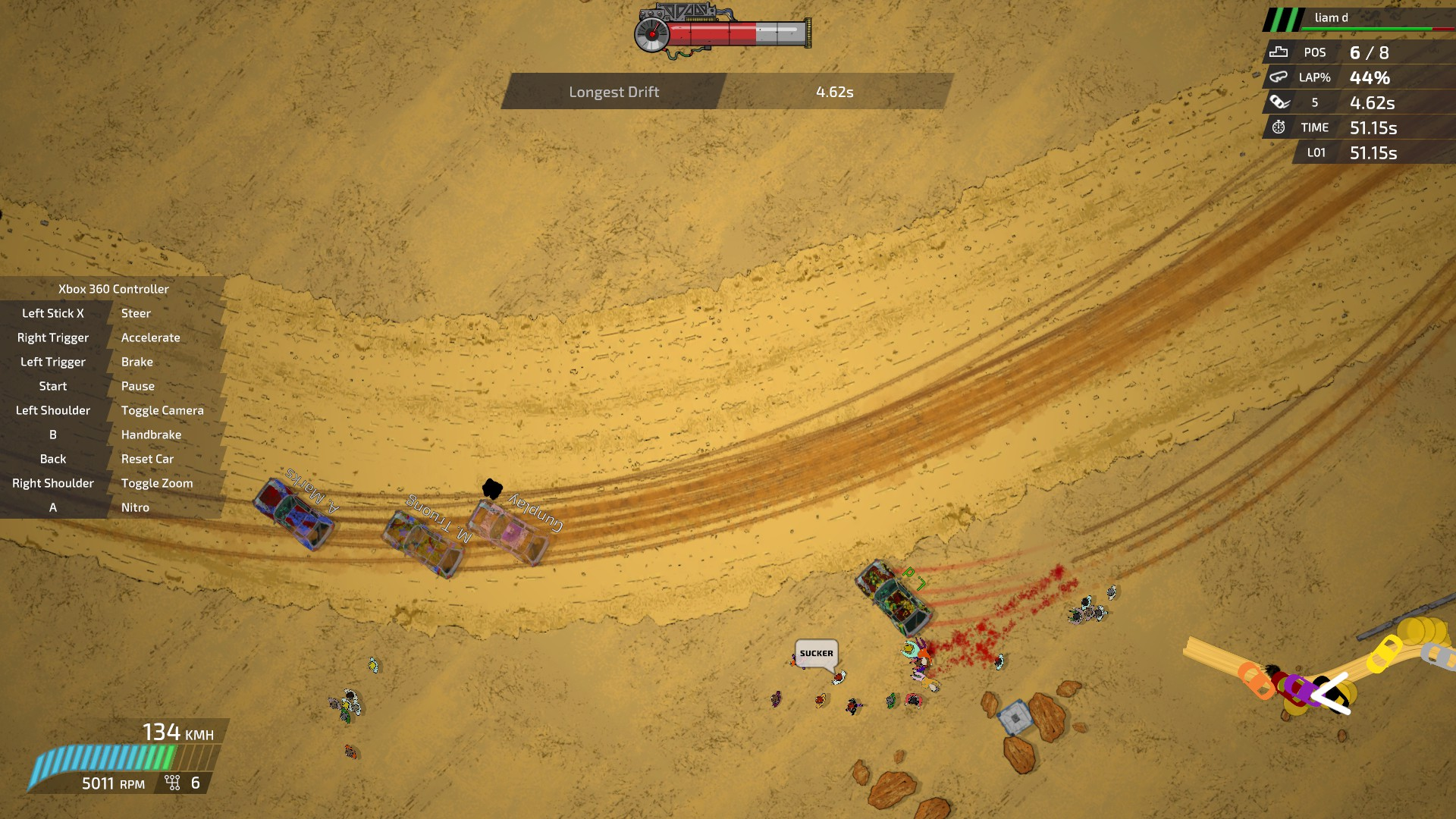 Extreme Top Down Racing Game Bloody Rally Show Is Out