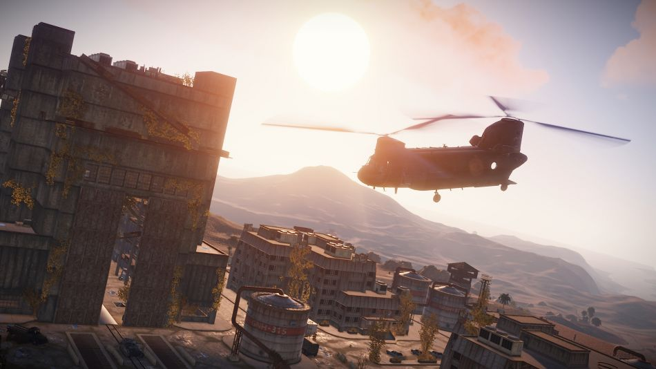 Survival game Rust adds in boats and an exciting Chinook Event