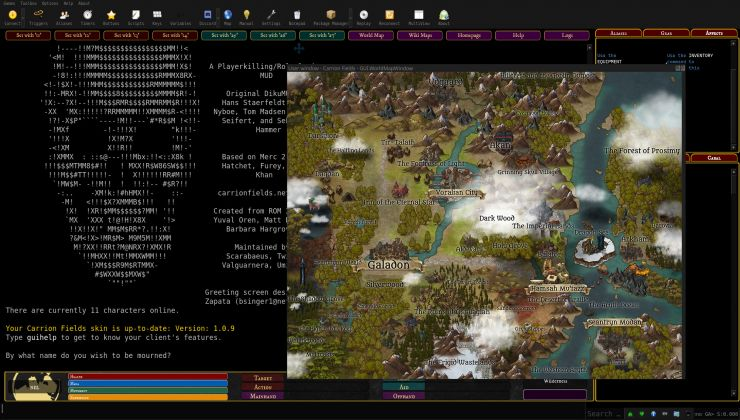 Get Immersed In A Classic Mud Multi User Dungeon With Mudlet