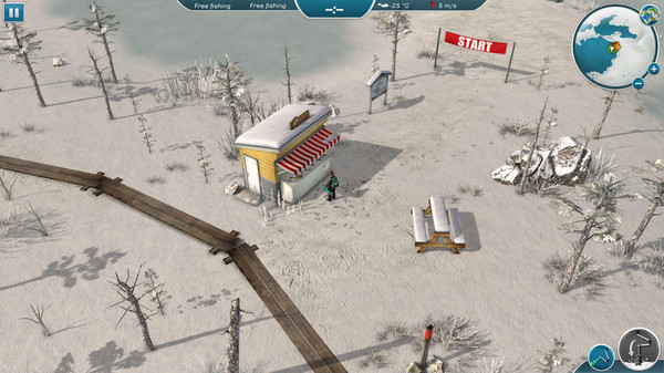 Ice lakes is another fishing game that supports linux for Ice fishing games free