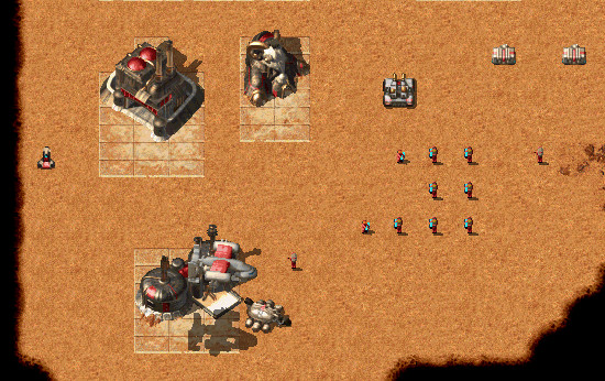 OpenRA [Official Site] is a fantastic game engine, which enables you to  play Command & Conquer, Command & Conquer: Red Alert and Dune 2000 on Linux.
