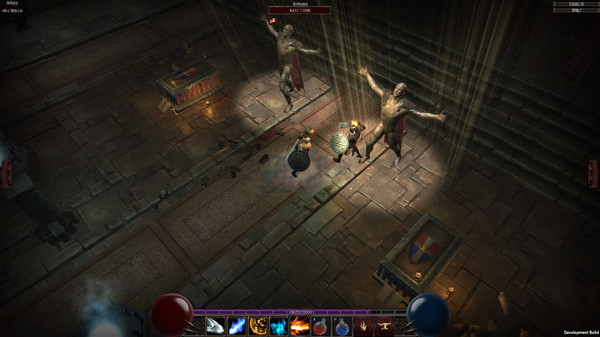 Sunken is a rather pretty looking action RPG that has random monsters and  loot, permanent death and crafting of course.