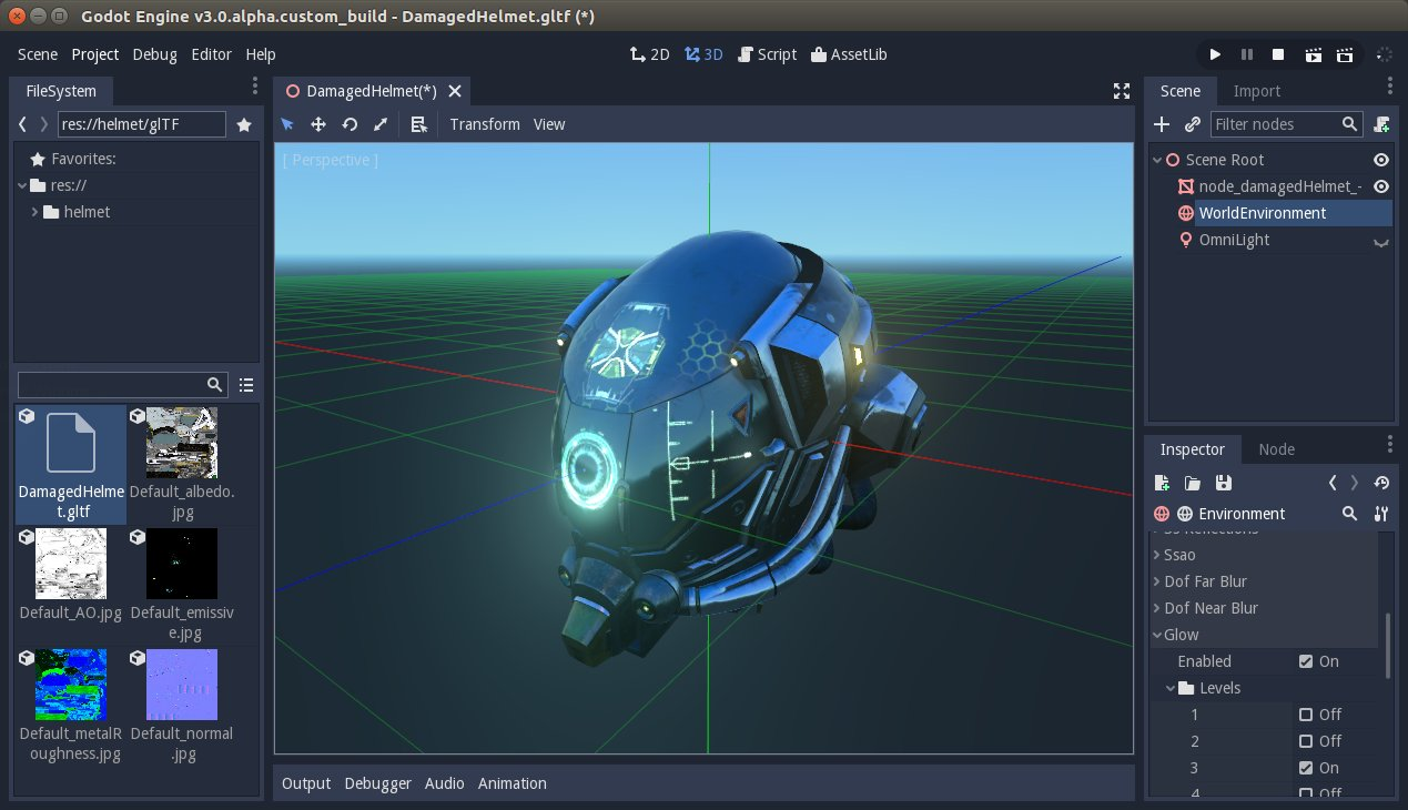 The open source game engine Godot adds support for glTF 2 0
