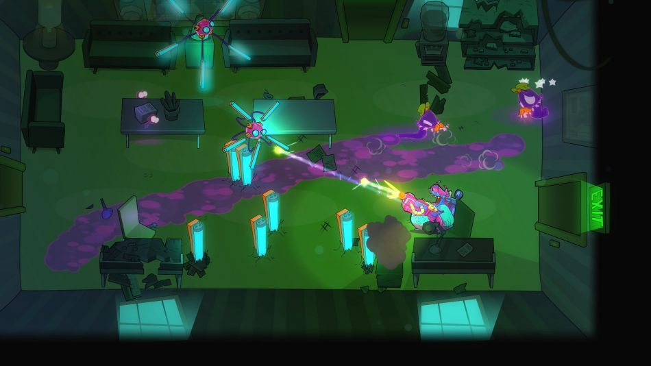 Colourful ghost-busting twin-stick shooter Dead End Job is out now